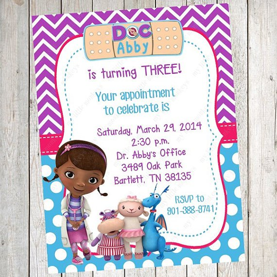 Doc Mcstuffins Invitations Free Printable