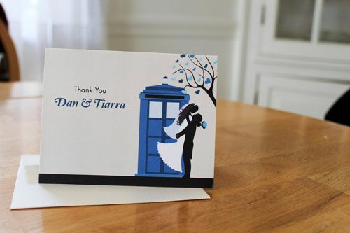 Doctor Who Themed Wedding Invitations