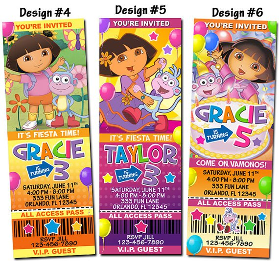 Dora And Diego Printable Invitations
