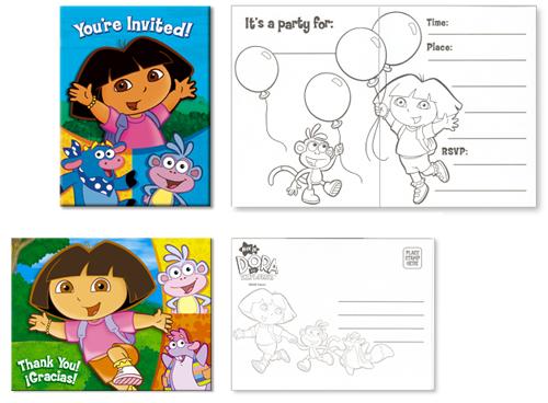 Dora Party Invitations Free