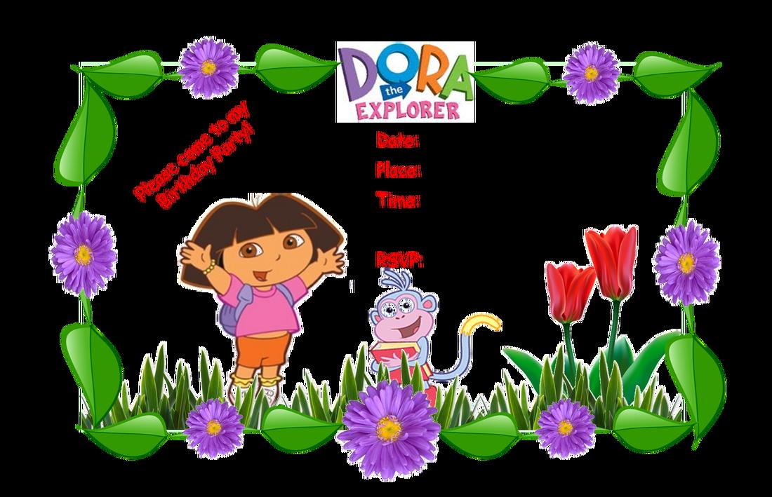 Dora Party Invitations Templates