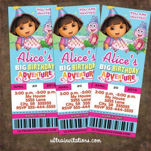 Dora Party Invitations Walmart