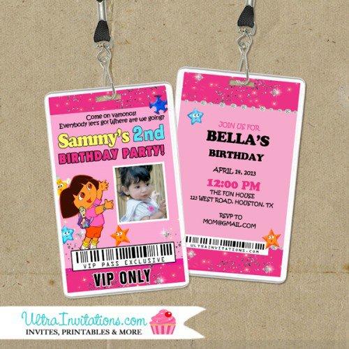 Dora Personalized Invitations