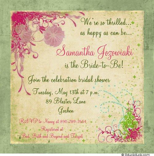 Double Bridal Shower Invitations