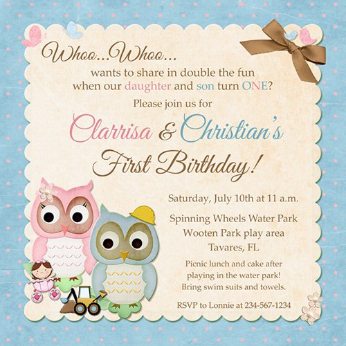 Double Party Invitations