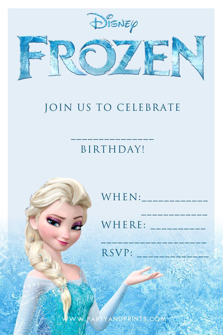 Downloadable Editable Frozen Party Invitations