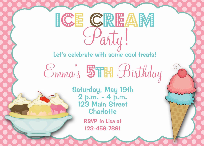 Downloadable Ice Cream Social Invitations