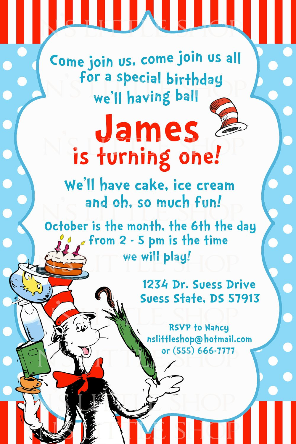 Dr Who Birthday Party Invitations