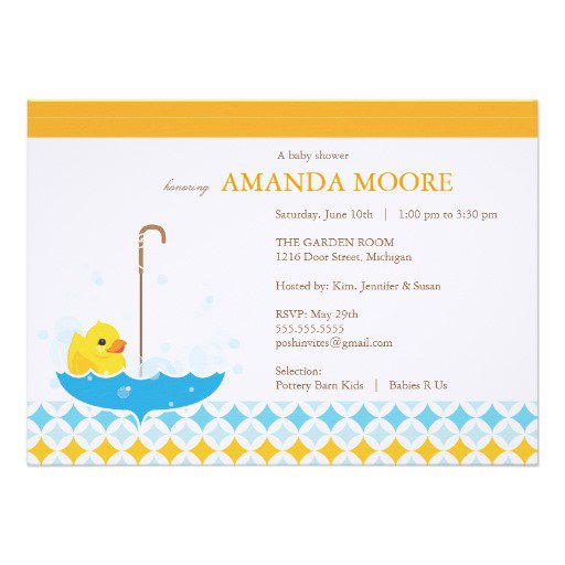 Duck Baby Shower Invitations Printable