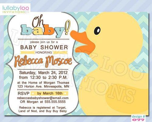 Duck Shower Invitations