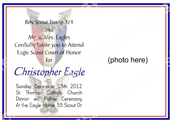 Eagle Scout Invitation Cards