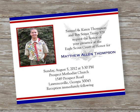 Eagle scout invitations print for Eagle scout court of honor program template