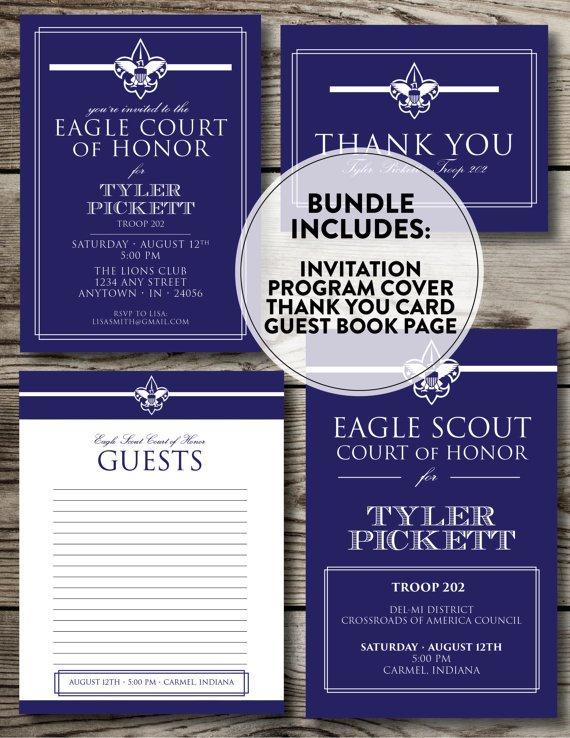 Eagle Scout Printed Invitations