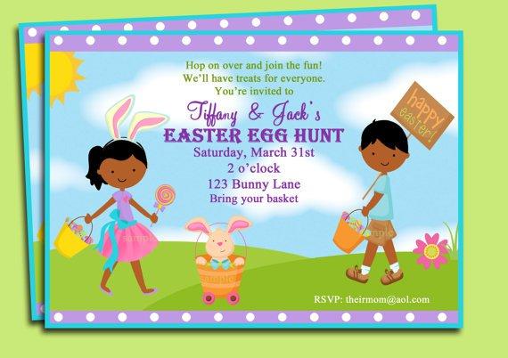 Easter Church Egg Hunt Printable Invitations