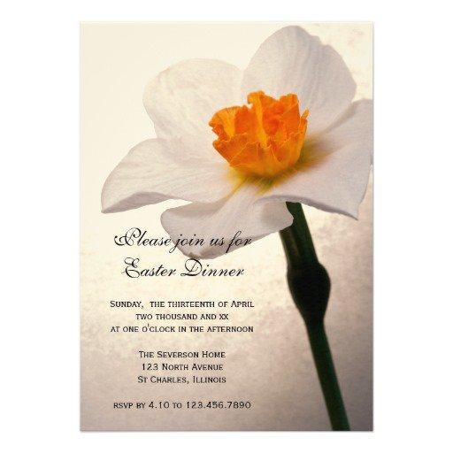 Easter Dinner Invitation Background