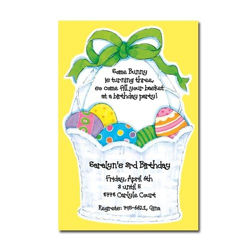 Easter Egg Hunt Birthday Party Invitations