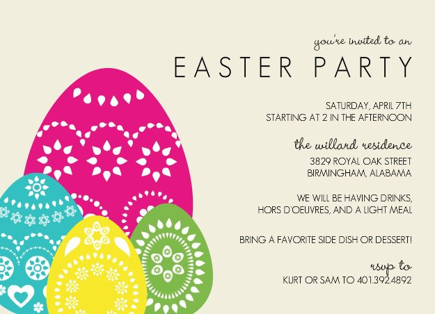 ... Examples Of Church Invite Cards For Easter ...