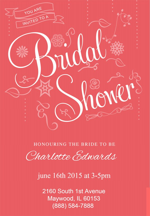 Easy Bridal Shower Invitation Template