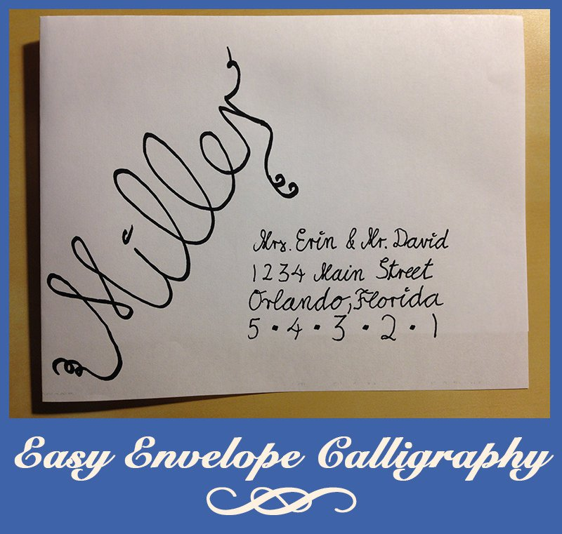 Easy Calligraphy For Wedding Invitations