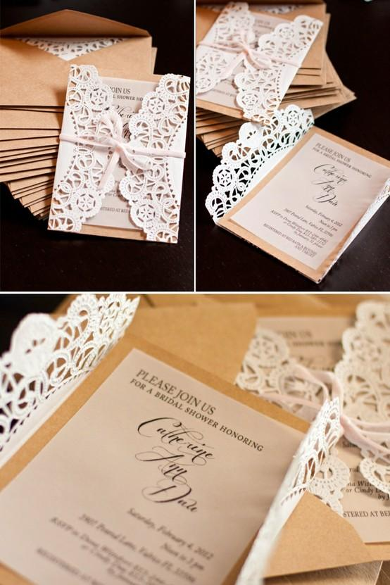 Easy To Make Vintage Wedding Invitations