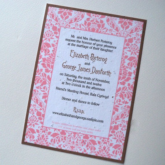 Eco Friendly Wedding Invitations Simple Yet Elegant