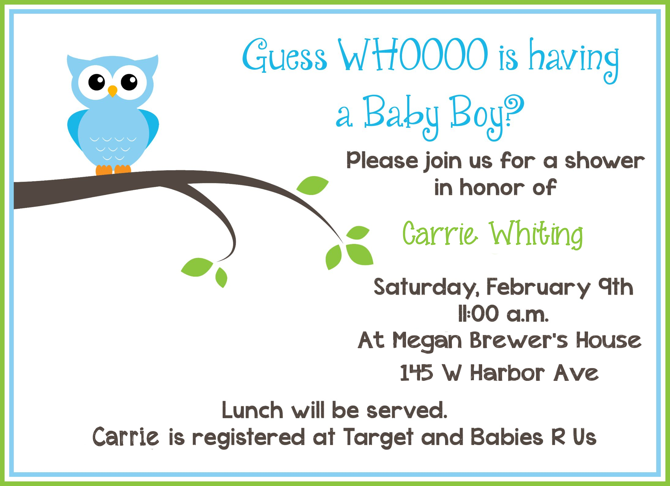 Editable And Printable Baby Shower Invitations
