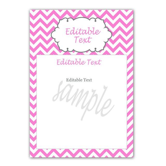 Editable Blank Birthday Invitations