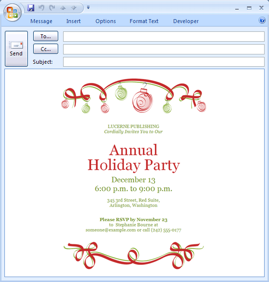 Electronic Business Invitation Templates Free