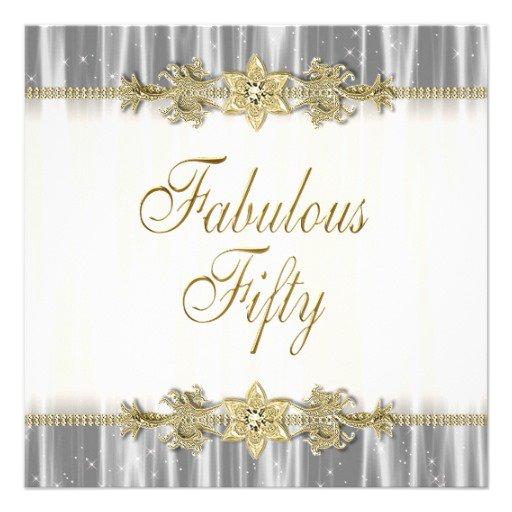Elegant 50th Birthday Invitation Wording