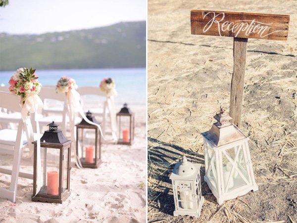 Elegant Beach Theme Wedding Invitations