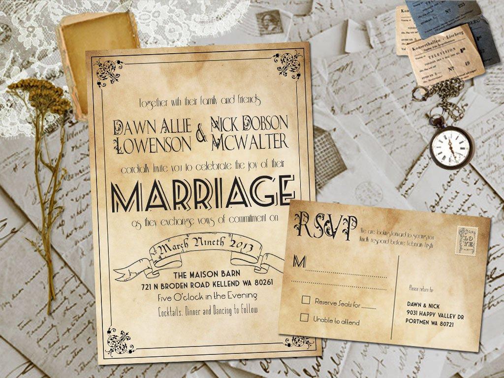 Elegant Beach Wedding Invitation Templates