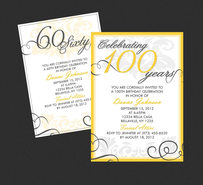 Elegant Birthday Invitation Templates Free