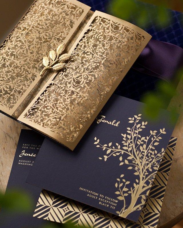 Elegant Black And White Wedding Invitations Pinterest