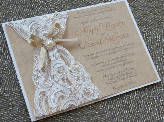 Elegant Bridal Invitations