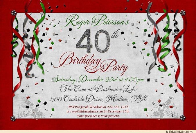 Elegant Christmas Gala Invitation