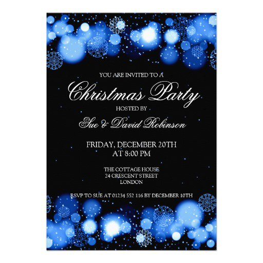 Elegant Christmas Party Invitation Ideas