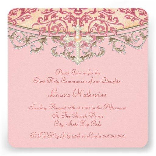 Elegant Communion Invitations For Girl