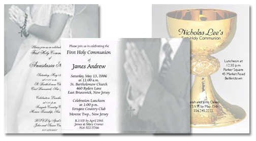 Elegant Communion Invitations For Girls