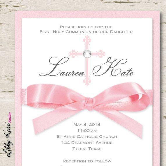 Elegant First Communion Invitations