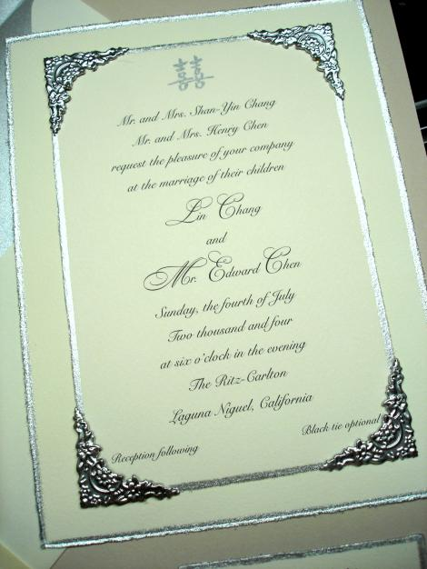 Elegant Handmade Wedding Invitations
