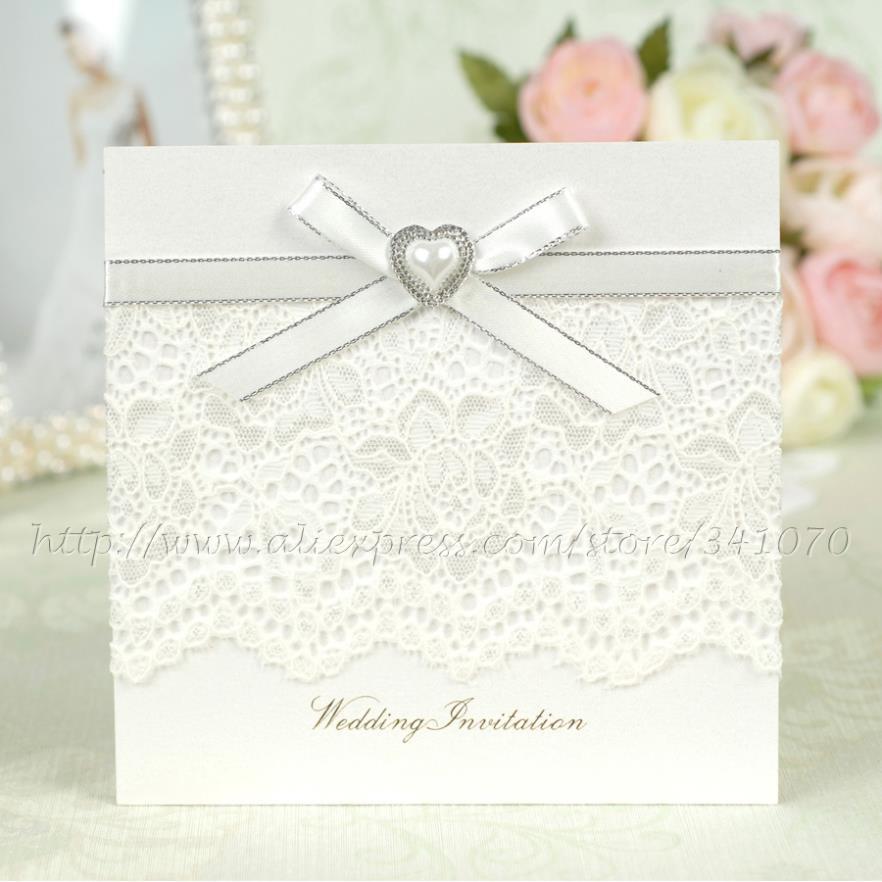 Elegant Heart Wedding Invitations