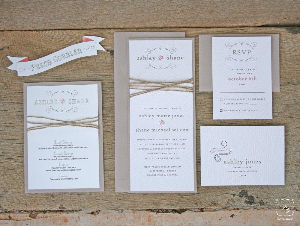 Elegant Wedding Invitation Sets