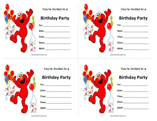 elmo 1st birthday invitations, Birthday invitations