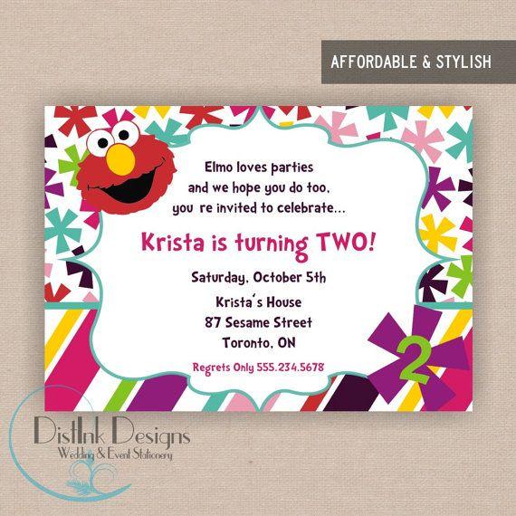 elmo 1st birthday party invitations - Elmo Birthday Party Invitations