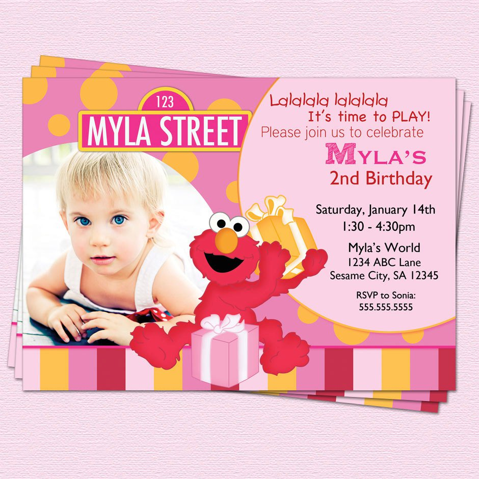 Elmo 2nd Birthday Invitation Wording