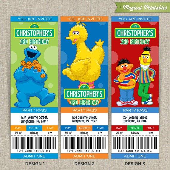 Elmo Birthday Invitations Printable