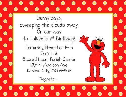 Elmo Birthday Invitations Templates