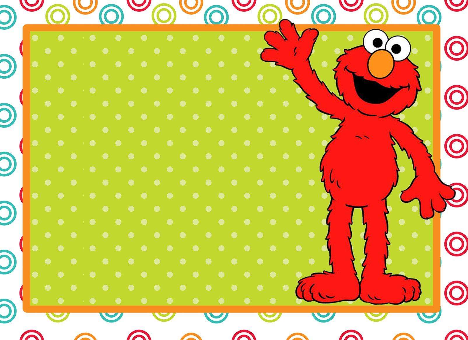 Elmo First Birthday Party Invitations