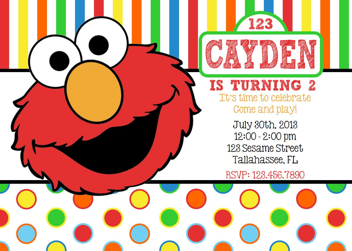 Elmo Inspired Birthday Invitation