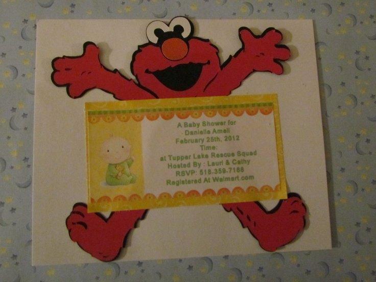 Elmo Invitation Cards